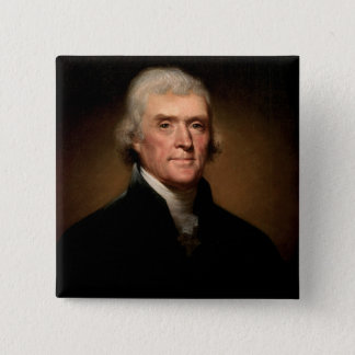 Thomas Jefferson 15 Cm Square Badge