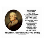 Thomas Jefferson Experience Man Devours Own Kind Post Cards