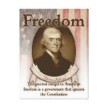 Thomas Jefferson – Freedom Stretched Canvas Print