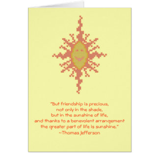 Thomas Jefferson Friendship Quote Notecard