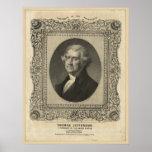 THOMAS JEFFERSON Lithograph Poster