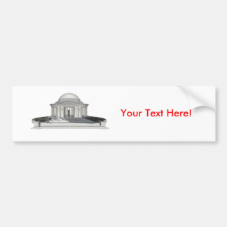 Thomas Jefferson Memorial: 3D Model: Bumper Sticker
