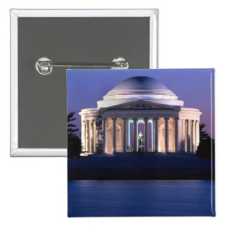 Thomas Jefferson Memorial at Dusk 15 Cm Square Badge