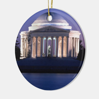 Thomas Jefferson Memorial at Dusk Christmas Ornament