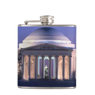 Thomas Jefferson Memorial at Dusk Hip Flask