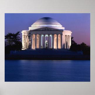 Thomas Jefferson Memorial at Dusk Poster