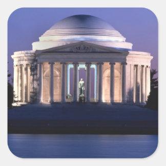 Thomas Jefferson Memorial at Dusk Square Sticker