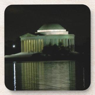 Thomas Jefferson Memorial at Night Beverage Coaster