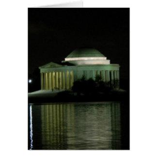Thomas Jefferson Memorial at Night Greeting Card