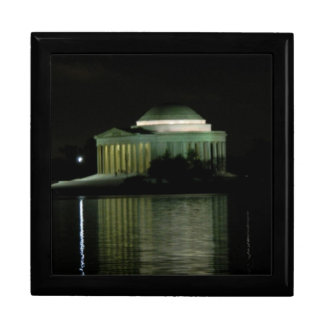 Thomas Jefferson Memorial at Night Keepsake Box