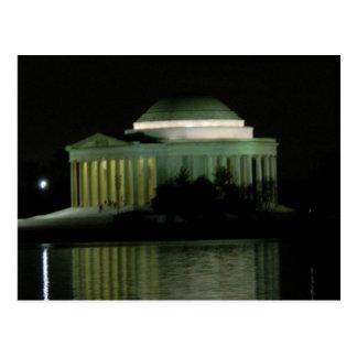 Thomas Jefferson Memorial at Night Postcard