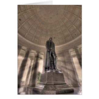 Thomas Jefferson Memorial Bronze Statue Greeting Card