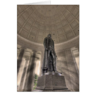 Thomas Jefferson Memorial Bronze Statue Note Card