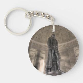 Thomas Jefferson Memorial Bronze Statue Single-Sided Round Acrylic Key Ring