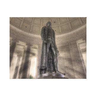 Thomas Jefferson Memorial Bronze Statue Stretched Canvas Print