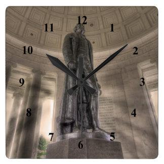 Thomas Jefferson Memorial Bronze Statue Wallclock