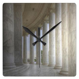 Thomas Jefferson Memorial Circular Colonnade Square Wall Clock