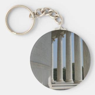 Thomas Jefferson Memorial pillars keychain