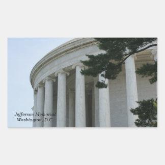 Thomas Jefferson Memorial pillars stickers