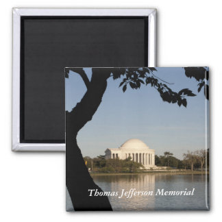 Thomas Jefferson Memorial Square Magnet