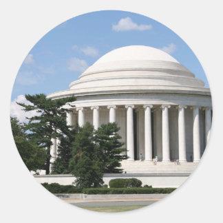 Thomas Jefferson Memorial Round Stickers