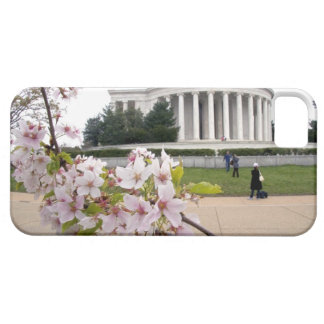 Thomas Jefferson Memorial with cherry blossoms iPhone 5 Covers