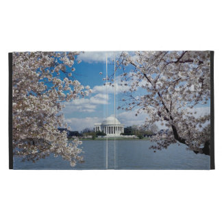 Thomas Jefferson Memorial with Cherry Blossoms iPad Folio Cover