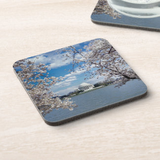 Thomas Jefferson Memorial with Cherry Blossoms Coasters