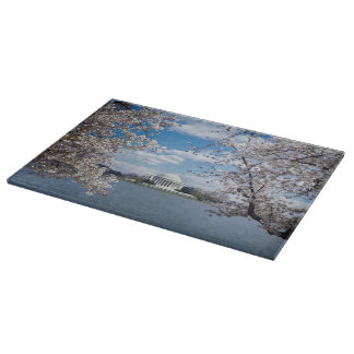 Thomas Jefferson Memorial with Cherry Blossoms Cutting Boards