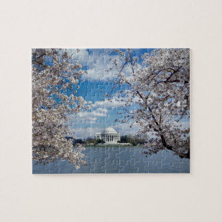Thomas Jefferson Memorial with Cherry Blossoms Jigsaw Puzzle
