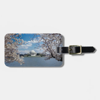 Thomas Jefferson Memorial with Cherry Blossoms Tag For Bags