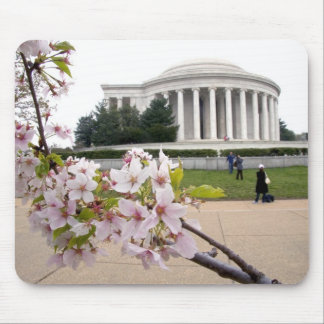 Thomas Jefferson Memorial with cherry blossoms Mouse Mat