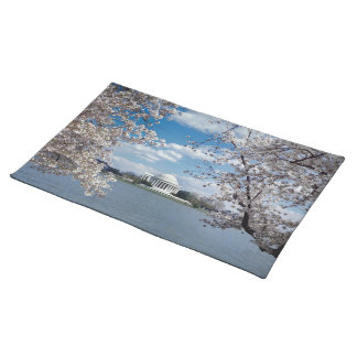 Thomas Jefferson Memorial with Cherry Blossoms Placemats