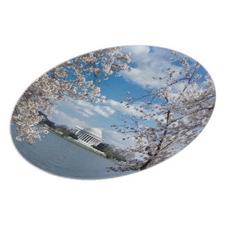 Thomas Jefferson Memorial with Cherry Blossoms Plates