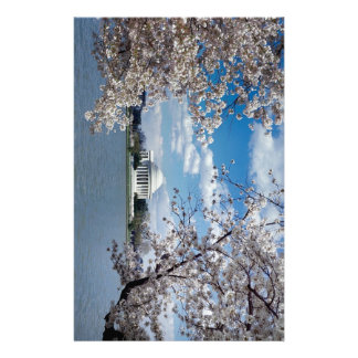 Thomas Jefferson Memorial with Cherry Blossoms Stationery Paper