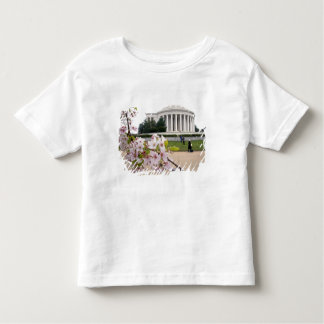 Thomas Jefferson Memorial with cherry blossoms Toddler T-Shirt