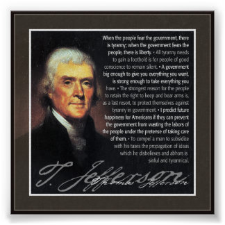 Thomas Jefferson - multiple quotes Poster