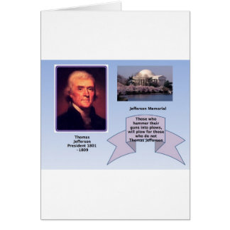 THOMAS JEFFERSON ON GUN CONTROL GREETING CARD
