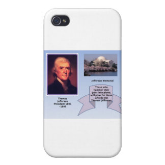 THOMAS JEFFERSON ON GUN CONTROL CASES FOR iPhone 4