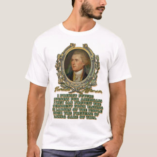 Thomas Jefferson on Wasted Labours T-Shirt