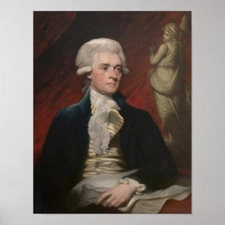 Thomas Jefferson Painting Poster