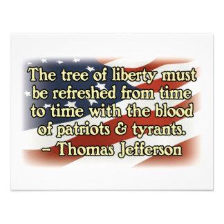 Thomas Jefferson Patriots and Tyrants Custom Announcement