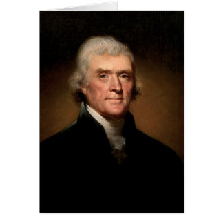 Thomas Jefferson:Pro Gun Message Inside Greeting Card