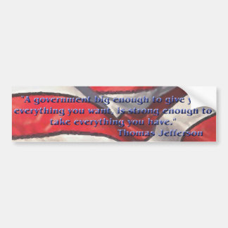 Thomas Jefferson Quote Bumper Sticker Car Bumper Sticker