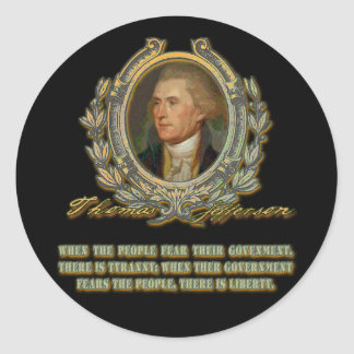 Thomas Jefferson Quote:  Government & the People Stickers