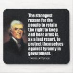Thomas Jefferson Quote Mouse Pad