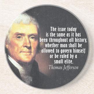 Thomas Jefferson Quote Sandstone Coaster