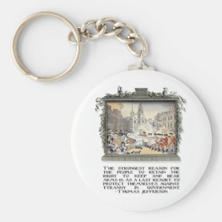 Thomas Jefferson Quote: Tyranny in the Government Basic Round Button Key Ring