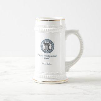 Thomas Jefferson Quote (Vigilance) Beer Stein