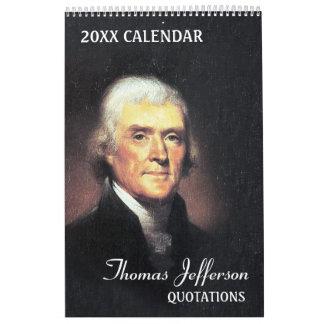 Thomas Jefferson Quotes Wall Calendars